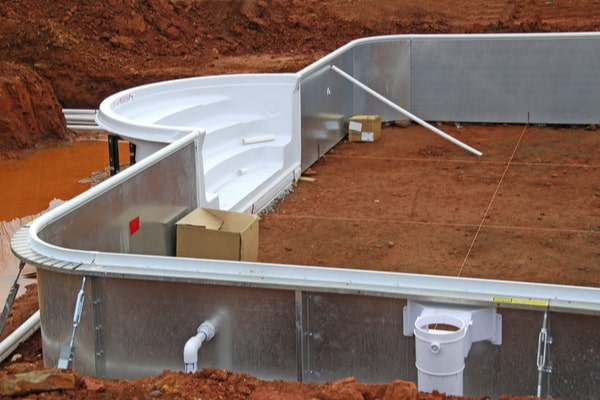 Permis de construire piscine semi-enterrée